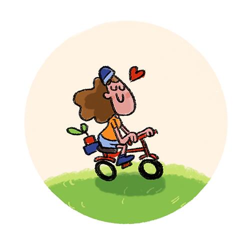 Badge Buddy - Bicycle Love