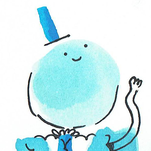 Blue Buddy - Pocket Painting