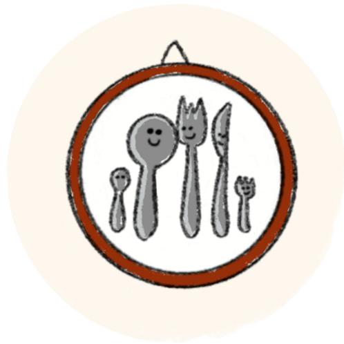 Badge Buddy - Cutlery Photo