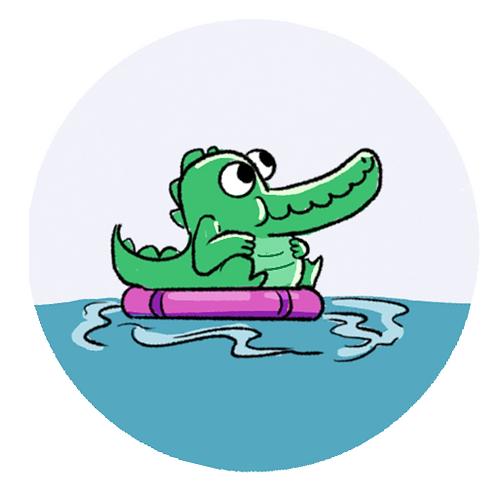 Badge Buddy - Poolside Croc