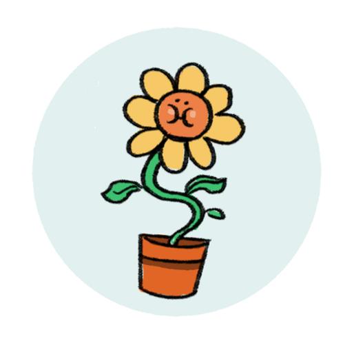 Badge Buddy - Sunny Flower
