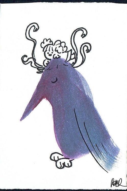 Purple Birdy - Pocket Painting