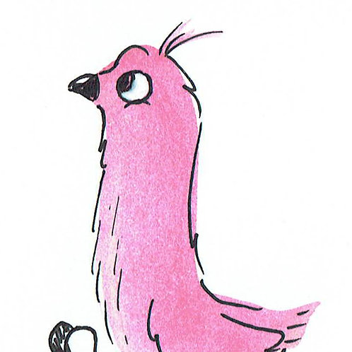 Pink Birdy - Pocket Painting