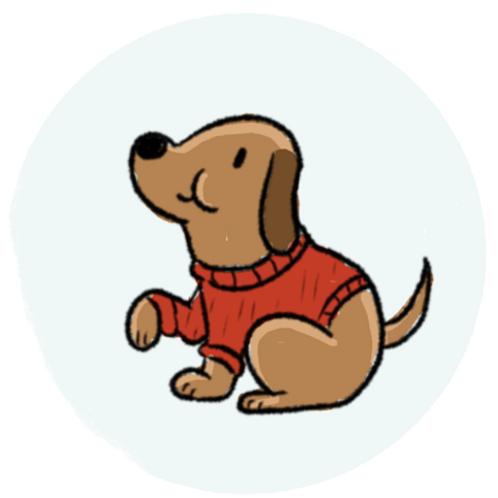 Badge Buddy - Dog in a Sweater