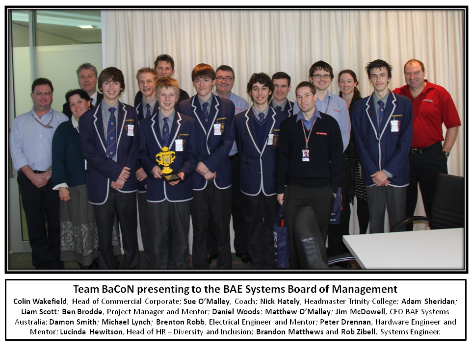 Team BaCoN with the BAE Systems board of management