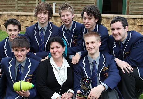 Trinity College Team BaCoN with teacher.