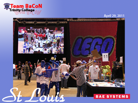 Team BaCoN on the field at the FIRST World Championships