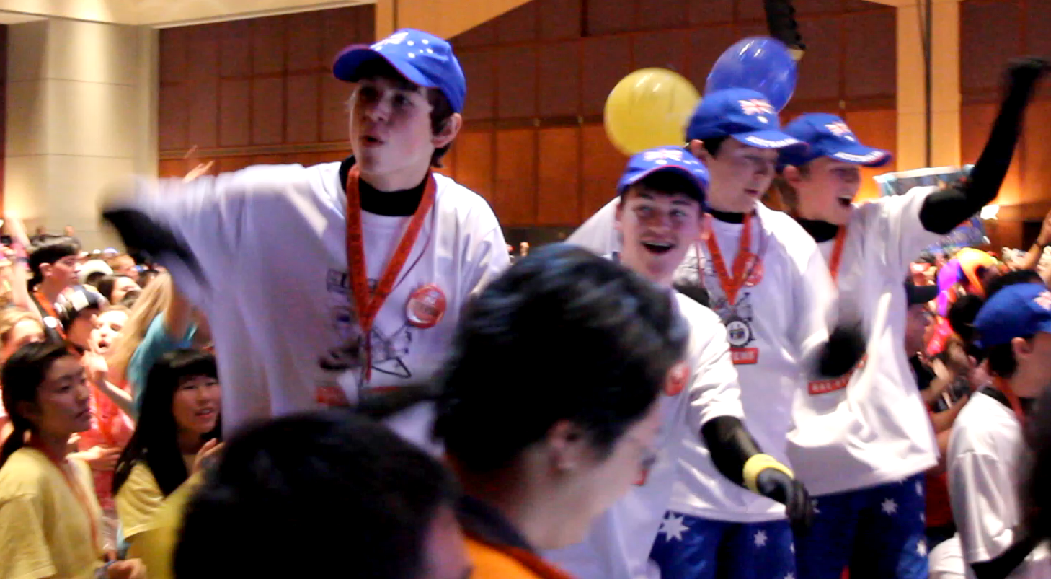 Team BaCoN dancing at the World Championships