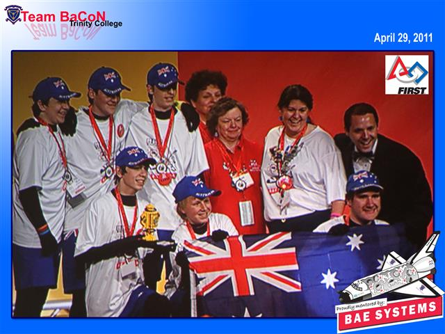 Team BaCoN win Innovative Solution Award