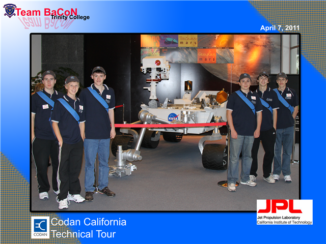 Team BaCoN at the Jet Propulsion Laboratory