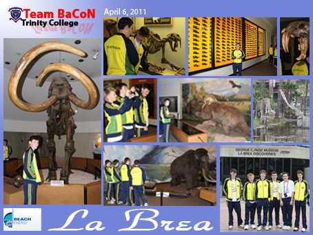 Team BaCoN at the La Brea Tar Pits