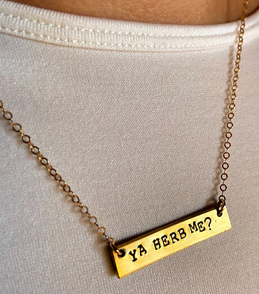 Ya Herb Me® + Small Change Finery Hand-Hammered Gold Necklace
