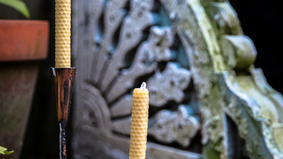 Hand-Rolled Taper Candles - Pair