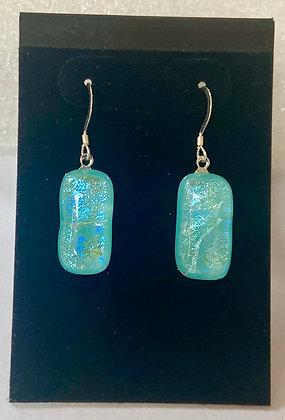 Ridged Turquoise earrings