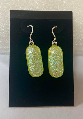 Yellow Glitter earrings