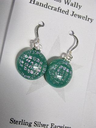 Checkered Green earrings