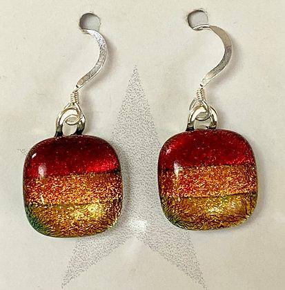 Sunset II Square earrings