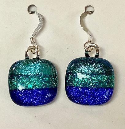 Ocean Blues Square earrings