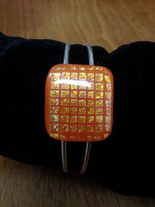 Orange Grid Bracelet
