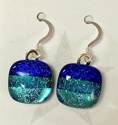 Ocean Blues II Square earrings