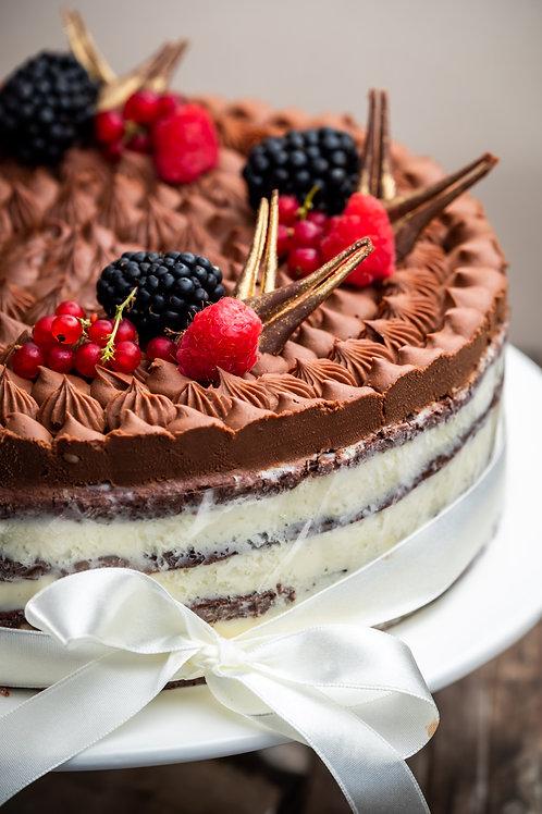 Kétcsokoládés torta (Cukormentes)