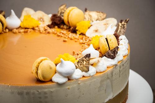 Banános fehércsokis mogyoró torta (Gluténmentes)
