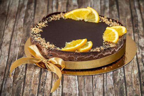 Narancsos - csokis élő torta