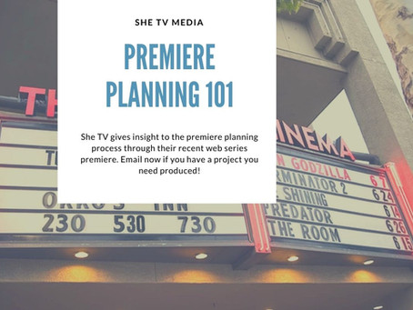 Premiere Planning 101