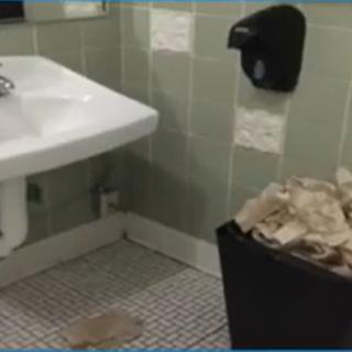 Kitchen sink with trash 10-30-2020