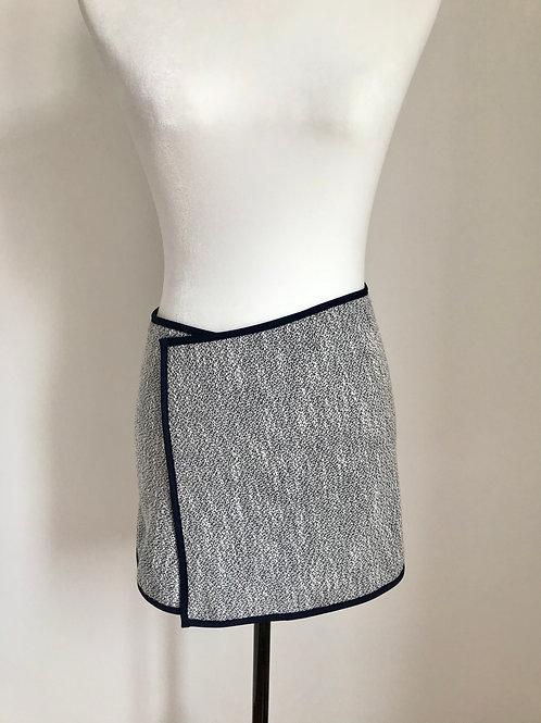 Mini saia textura azul