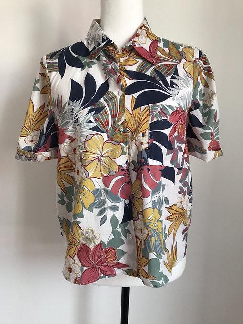Camisa padrão floral colorido