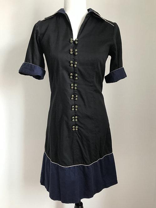 Vestido preto e azul