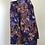 Thumbnail: Calção saia vintage com padrão violeta