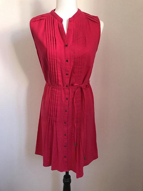 Vestido pink com botões frontais