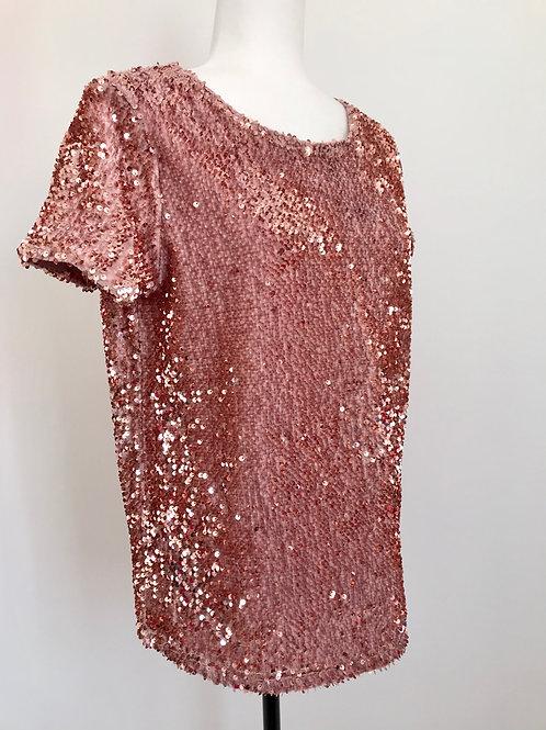 Blusa lantejoulas rosa