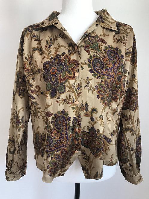 Camisa vintage acetinada