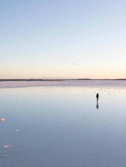 Mirror-like salt flats