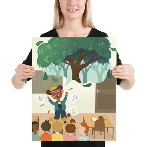 Art Speaks Tree Poster