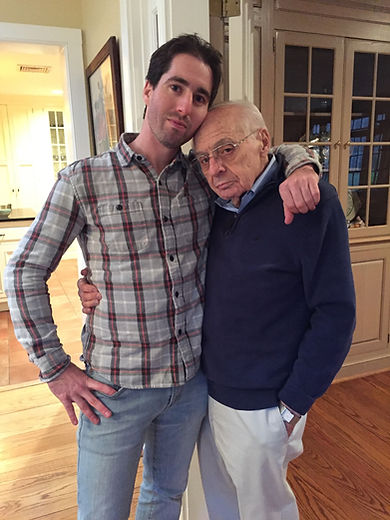 Albert Boscov with his grandson, Josh Aichenbaum