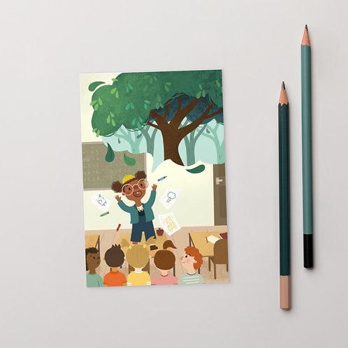 Art Speaks Tree Postcard