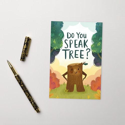Do You Speak Tree? Postcard