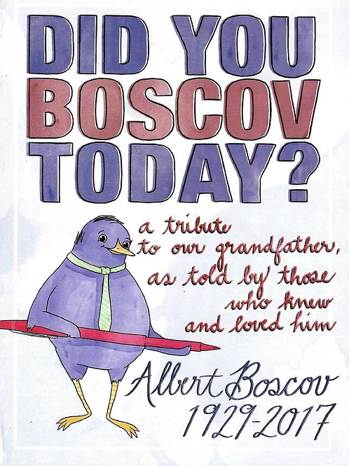 Did You Boscov Today? signed by the author