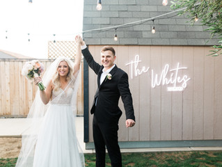 Clark + Taylor: Intimate Backyard Wedding
