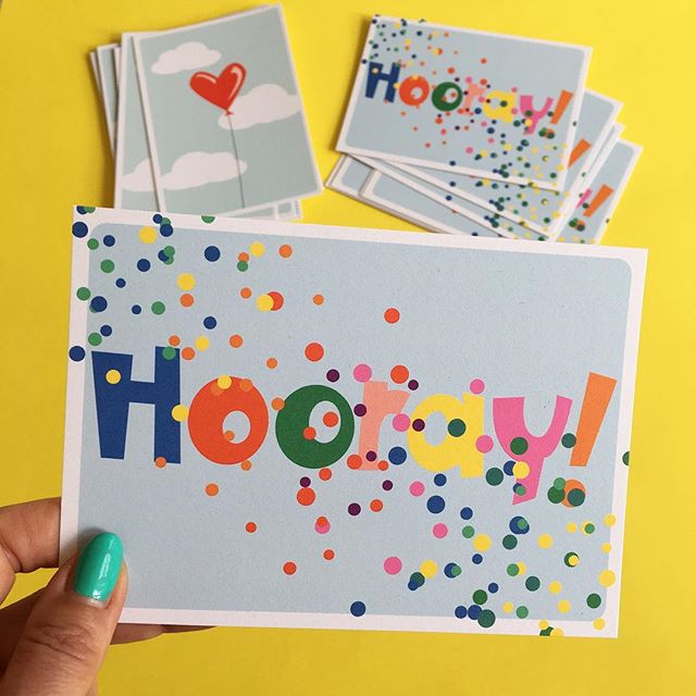 Hooray Postcard