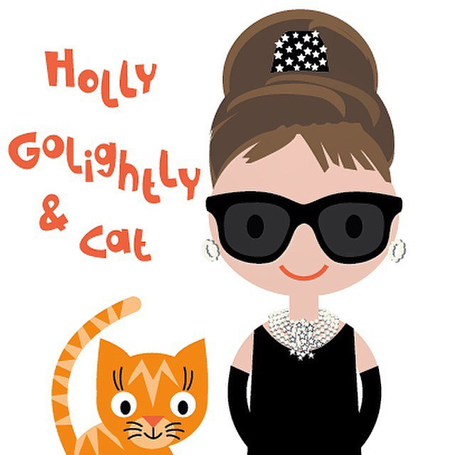 I'm working on a new series of characters, starting with #hollygolightly and her #cat 😻 I hope you