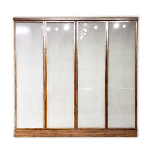 ตู้เสื้อผ้า4บานเปิด กระจกฝ้า