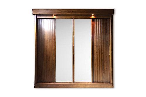 ตู้เส้อผ้า4บานเลื่อน modern teak