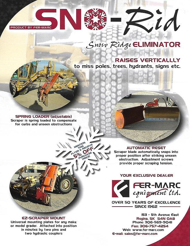 Sno-Rid Snow Ridge Eliminator Attachment