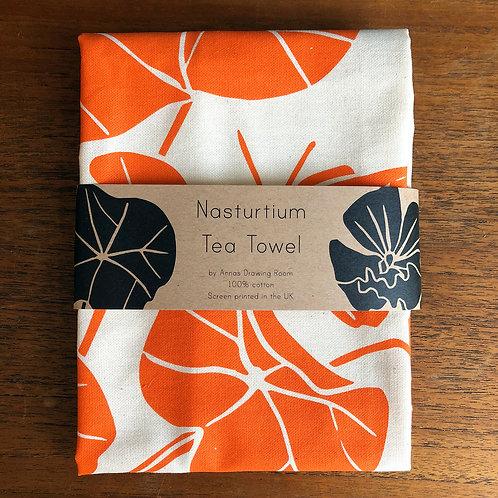 Nasturtium Tea Towel