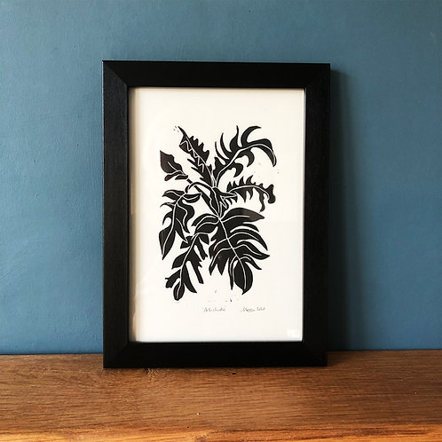 Artichoke - Linocut Print